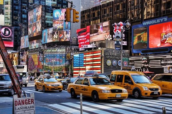 Road traffic in Manhattan, New York