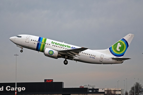 Transavia Airlines plane taking off
