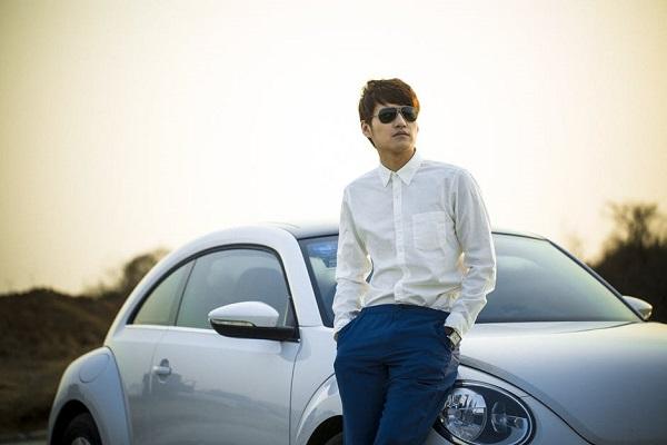 Volkswagen beetle driver