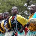 Kenyan girls dancing