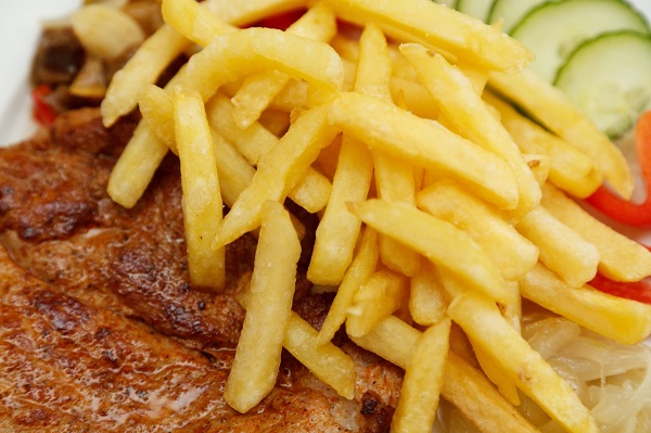 French fries and steak